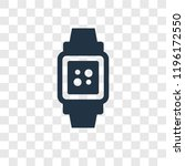 smartwatch vector icon isolated ... | Shutterstock .eps vector #1196172550