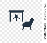 fireplace vector icon isolated... | Shutterstock .eps vector #1196172763
