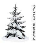 Christmas Tree On A White...