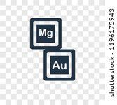 periodic table vector icon... | Shutterstock .eps vector #1196175943