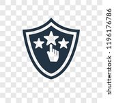 ranking vector icon isolated on ... | Shutterstock .eps vector #1196176786
