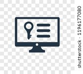 keywords vector icon isolated... | Shutterstock .eps vector #1196177080