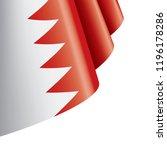 bahrain flag  vector... | Shutterstock .eps vector #1196178286