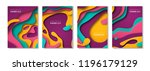 vertical banners set with 3d... | Shutterstock .eps vector #1196179129