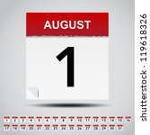Calendar On White Paper Note....