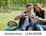 winegrowers tasting wine | Shutterstock . vector #119618458