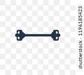 dumbbells bar vector icon... | Shutterstock .eps vector #1196185423