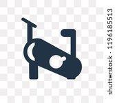 stationary bike vector icon... | Shutterstock .eps vector #1196185513