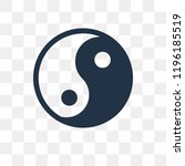 yin yang vector icon isolated... | Shutterstock .eps vector #1196185519