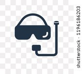 snorkel vector icon isolated on ... | Shutterstock .eps vector #1196186203