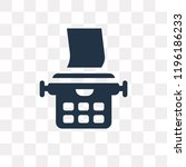 typewriter vector icon isolated ... | Shutterstock .eps vector #1196186233