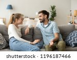 affectionate cheerful married... | Shutterstock . vector #1196187466