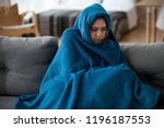 young unsatisfied sick woman... | Shutterstock . vector #1196187553