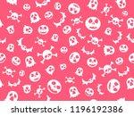 texture halloween white pink...   Shutterstock .eps vector #1196192386