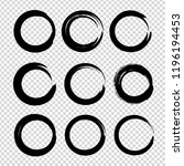 black textured circle smears...   Shutterstock .eps vector #1196194453