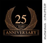 25 years design template. 25th... | Shutterstock .eps vector #1196195539