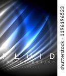 neon glowing wave  magic energy ...   Shutterstock .eps vector #1196196523