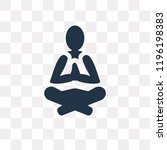 meditation vector icon isolated ...   Shutterstock .eps vector #1196198383