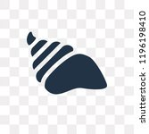 conch shell vector icon... | Shutterstock .eps vector #1196198410