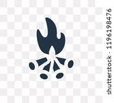 bonfire vector icon isolated on ... | Shutterstock .eps vector #1196198476