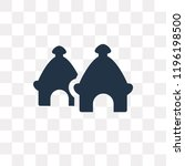 hut vector icon isolated on... | Shutterstock .eps vector #1196198500