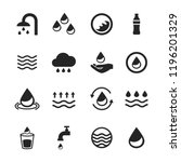 water icons set isolated on... | Shutterstock .eps vector #1196201329