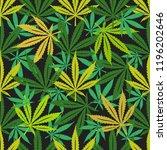 cannabis marijuana seamless... | Shutterstock .eps vector #1196202646