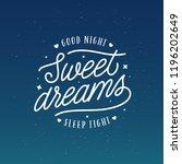 sweet dreams good night...   Shutterstock .eps vector #1196202649