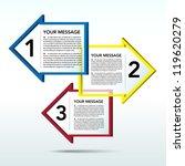 abstract 3d arrow speech... | Shutterstock .eps vector #119620279