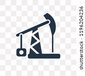 pump jack vector icon isolated... | Shutterstock .eps vector #1196204236