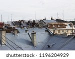 ityscape  rooftops of lviv ... | Shutterstock . vector #1196204929