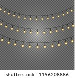 christmas lights isolated... | Shutterstock .eps vector #1196208886