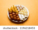 indian sweets in a plate... | Shutterstock . vector #1196218453