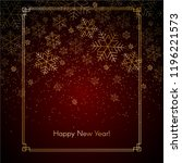 christmas new year background... | Shutterstock .eps vector #1196221573