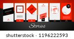 trendy stories design template... | Shutterstock .eps vector #1196222593