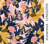 beautiful vector seamless... | Shutterstock .eps vector #1196222953