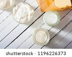 homemade dairy product samples... | Shutterstock . vector #1196226373