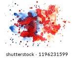 watercolor multicolored... | Shutterstock . vector #1196231599