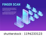 isometric finger scan... | Shutterstock .eps vector #1196233123