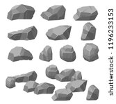 vector set. stones and rocks in ... | Shutterstock .eps vector #1196233153