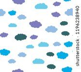 clouds and sky seamless vector... | Shutterstock .eps vector #1196238940