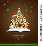 merry christmas lettering... | Shutterstock .eps vector #119623900