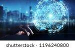 businessman on blurred... | Shutterstock . vector #1196240800