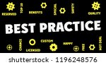 best practice gears and tags ...   Shutterstock . vector #1196248576