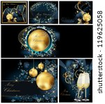 merry christmas background... | Shutterstock .eps vector #119625058