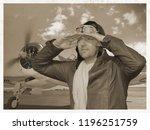 Vintage Aviator Pilot With...