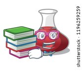 student with book red wine... | Shutterstock .eps vector #1196259259
