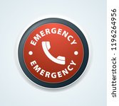 emergency call button | Shutterstock .eps vector #1196264956
