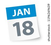 january 18   calendar icon  ... | Shutterstock .eps vector #1196269639
