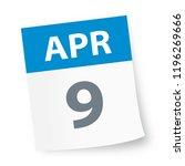 april 9   calendar icon  ... | Shutterstock .eps vector #1196269666